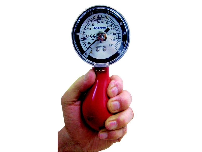 Pneumatic squeeze dynamometer